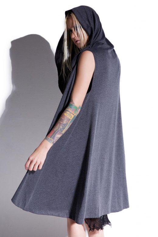 MNML Dark Shadow Sleeveless Hooded Cardigan » Hex Libris